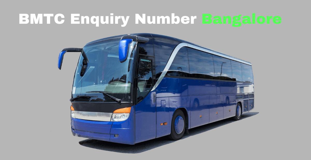 BMTC Enquiry Number Bangalore
